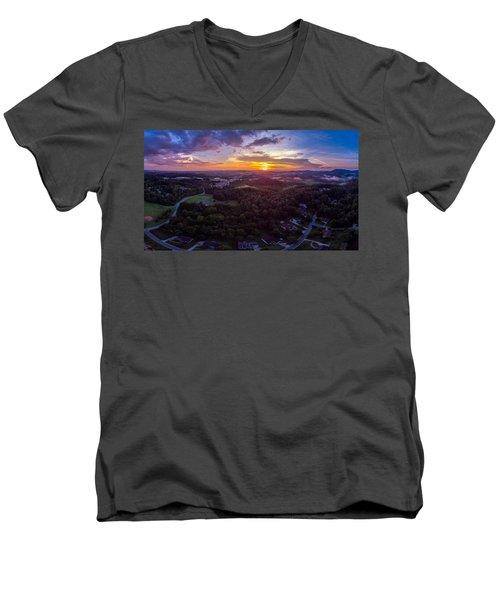 Lenoir North Carolina  Sunset Men's V-Neck T-Shirt