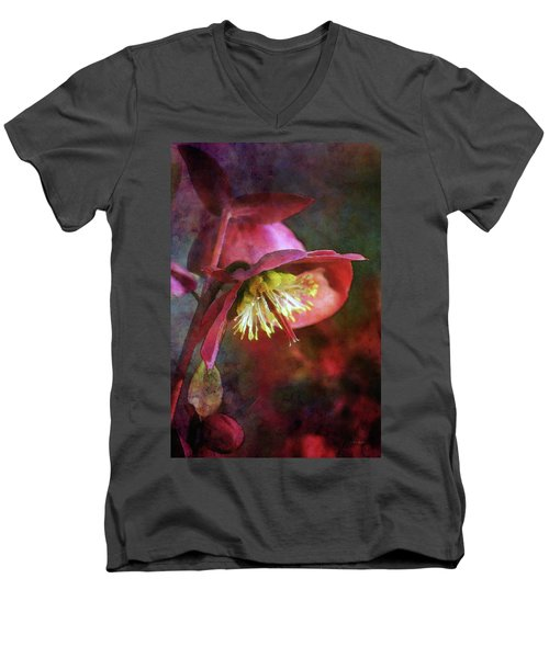 Lenten Rose Bowing To The Sun 8712 Idp_2 Men's V-Neck T-Shirt