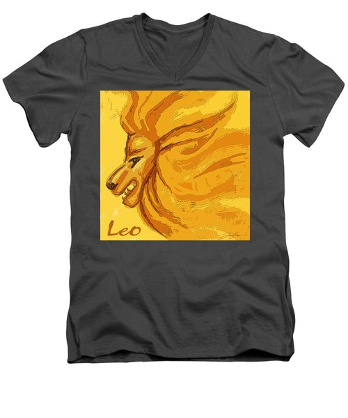 Leo Men's V-Neck T-Shirt
