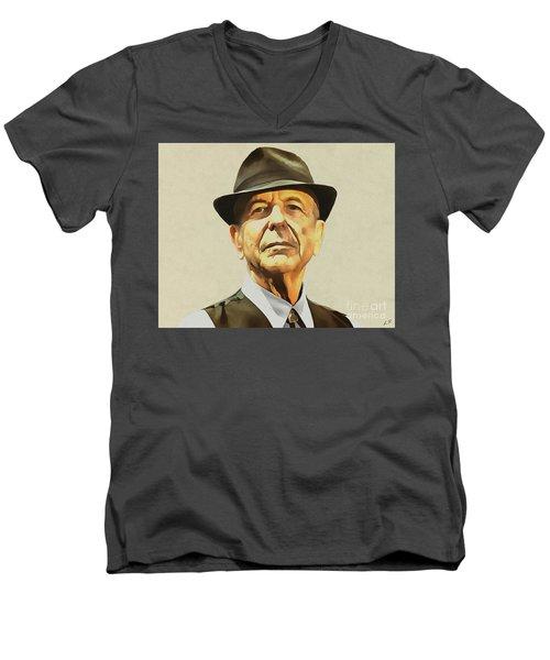 Leonard Cohen Men's V-Neck T-Shirt
