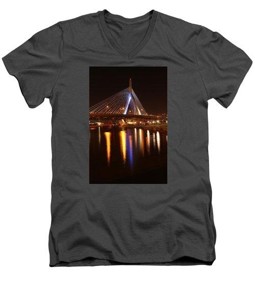 Leonard P. Zakim Bunker Hill Bridge Reflection 2 Men's V-Neck T-Shirt
