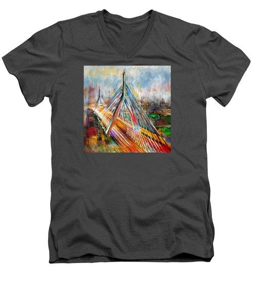Leonard P. Zakim Bunker Hill Memorial Bridge 219 1 Men's V-Neck T-Shirt
