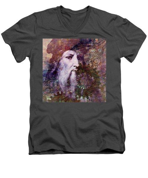 Leonardo Men's V-Neck T-Shirt