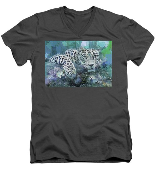 Leopard Abstract Men's V-Neck T-Shirt