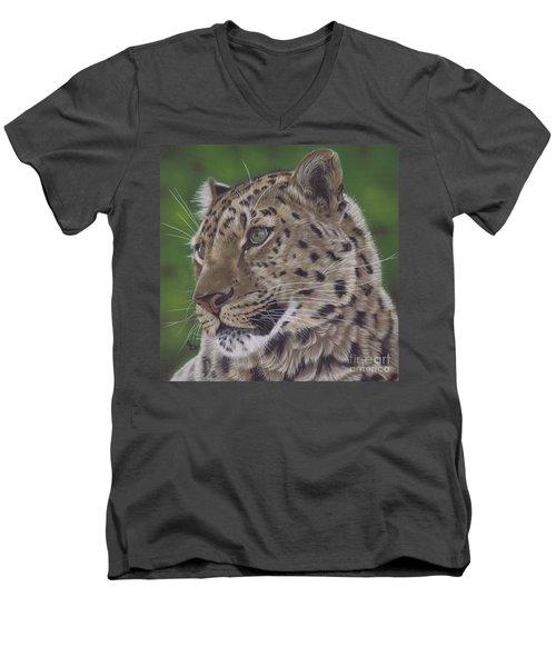 Leopard Men's V-Neck T-Shirt