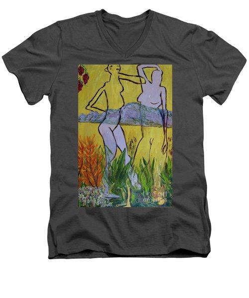 Les Nymphs D'aureille Men's V-Neck T-Shirt