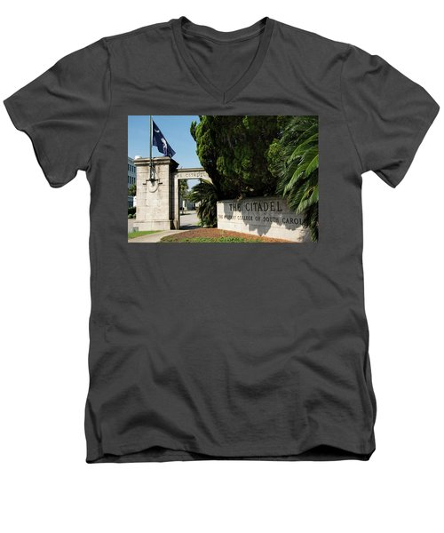Lesesne Gate Men's V-Neck T-Shirt by Ed Waldrop