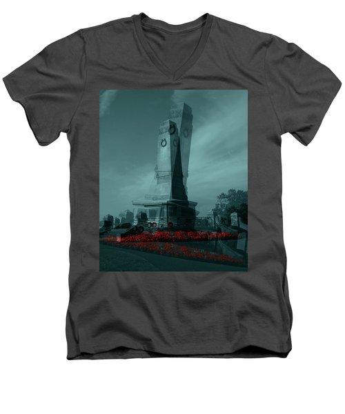 Lest We Forget. Men's V-Neck T-Shirt by Keith Elliott