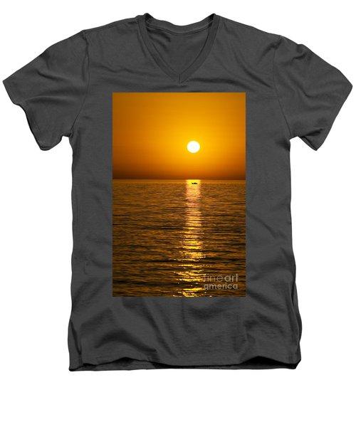 Lesvos Sunset Men's V-Neck T-Shirt