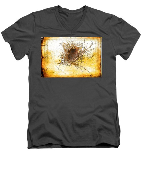 Men's V-Neck T-Shirt featuring the photograph Let Go by Jan Amiss Photography