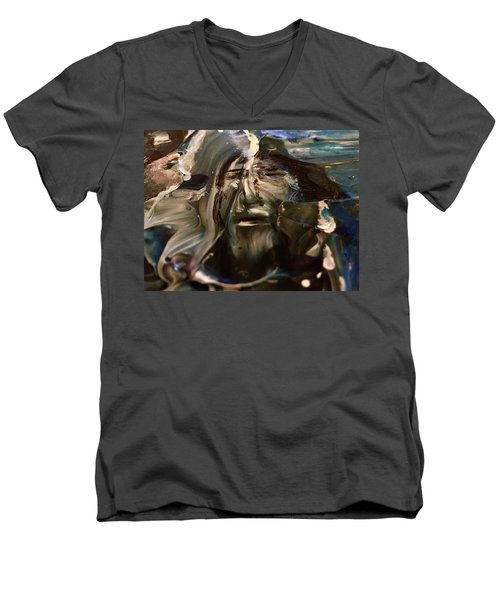 Let Go The Anchor Men's V-Neck T-Shirt by Kicking Bear Productions