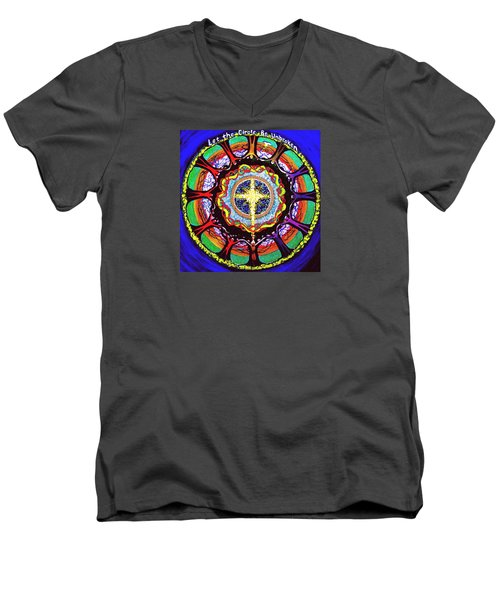Let The Circle Be Unbroken Men's V-Neck T-Shirt by Jeanette Jarmon