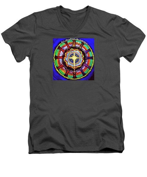 Let The Circle Be Unbroken Men's V-Neck T-Shirt