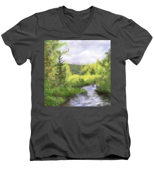 Let The Light Shine In. Men's V-Neck T-Shirt