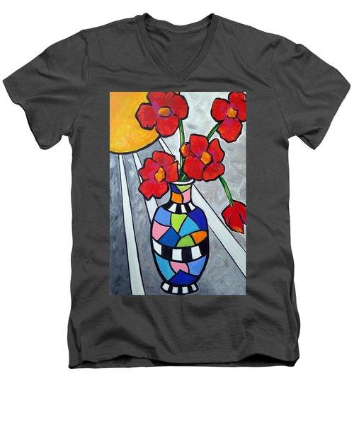 Let The Sun Shine On Men's V-Neck T-Shirt