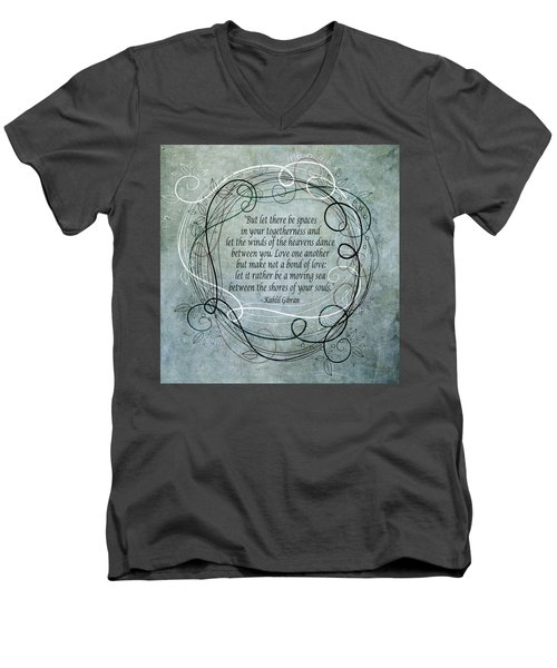 Let There Be Spaces Men's V-Neck T-Shirt