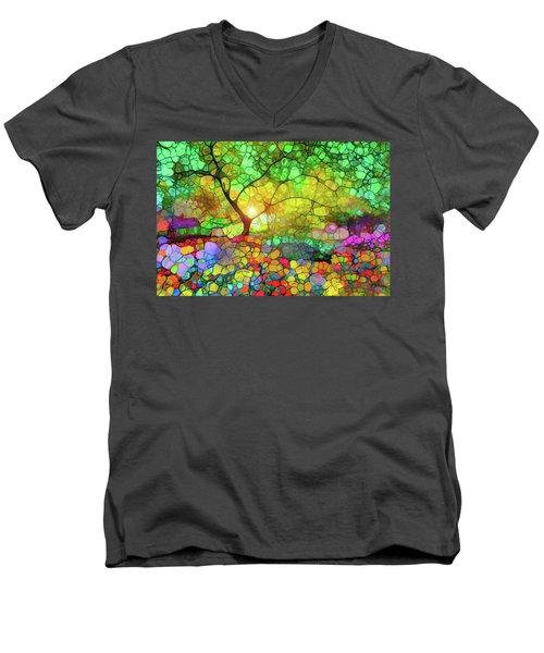 Let This Light Bring You Home Men's V-Neck T-Shirt by Tara Turner