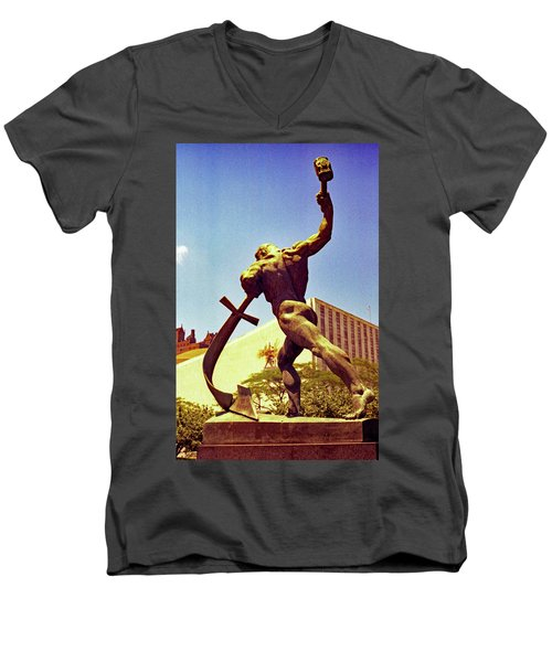 Let Us Beat Our Swords Into Plowshears Men's V-Neck T-Shirt