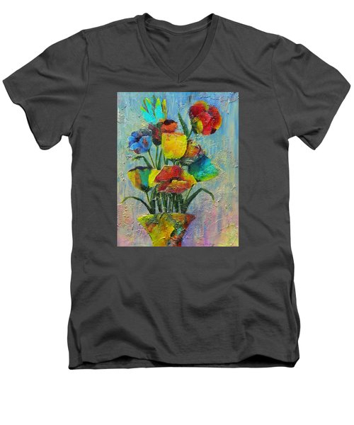 Let Your Individualism Stand Out Men's V-Neck T-Shirt by Terry Honstead