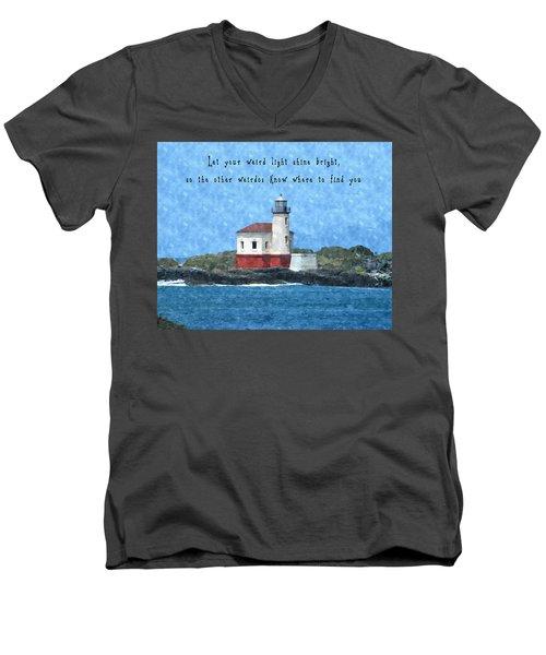 Let Your Weird Light Shine Bright Men's V-Neck T-Shirt