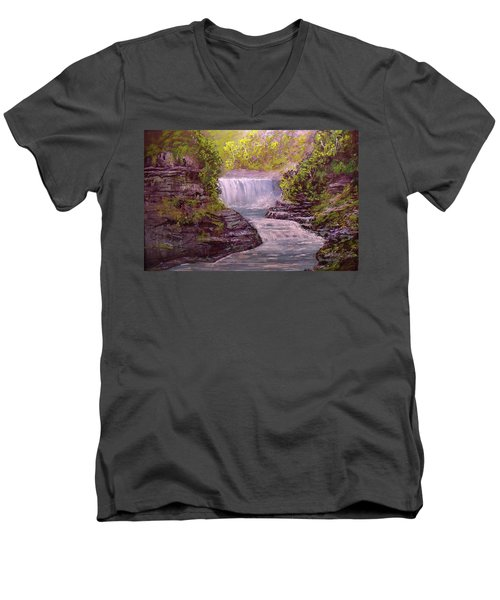 Letchworth State Park Men's V-Neck T-Shirt