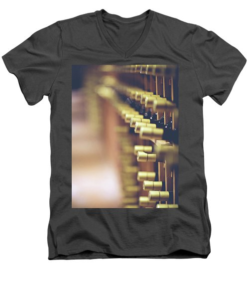 Men's V-Neck T-Shirt featuring the photograph Let's Crack One Open by Trish Mistric