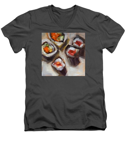 Let's Do Sushi Men's V-Neck T-Shirt
