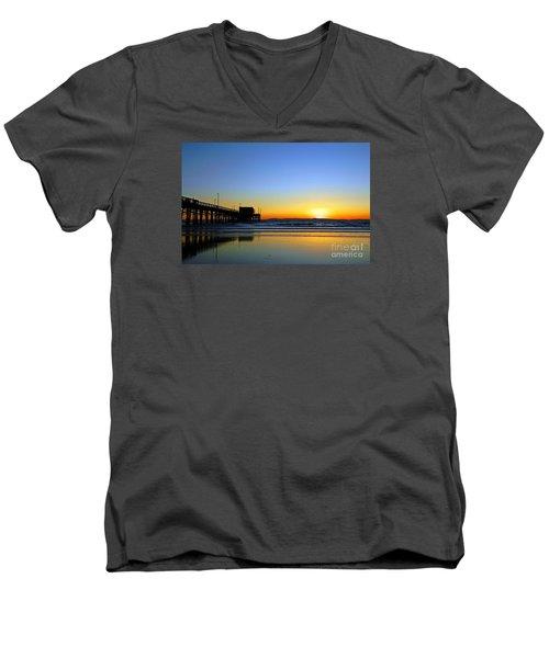 Lets Enjoy Men's V-Neck T-Shirt by Everette McMahan jr