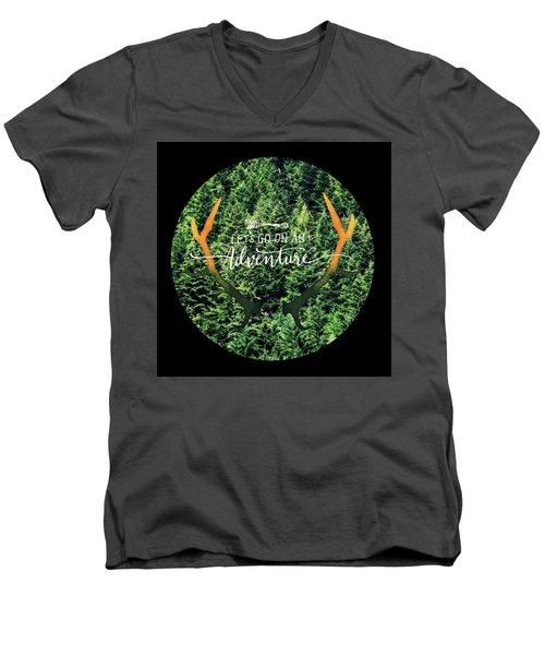 Let's Go On An Adventure Men's V-Neck T-Shirt