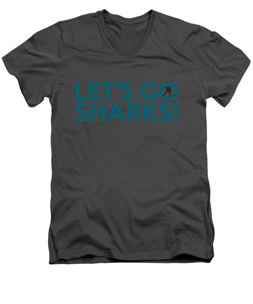 Let's Go Sharks Men's V-Neck T-Shirt