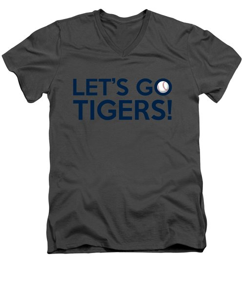 Let's Go Tigers Men's V-Neck T-Shirt by Florian Rodarte