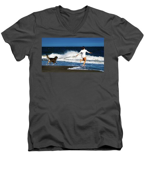 Let's Play In The Water Men's V-Neck T-Shirt