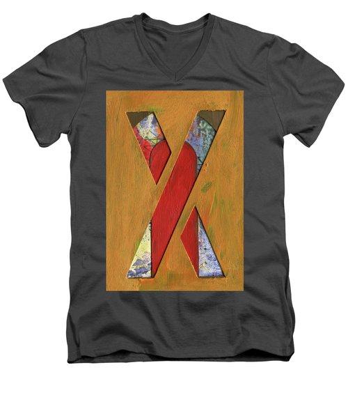 Letter X Men's V-Neck T-Shirt