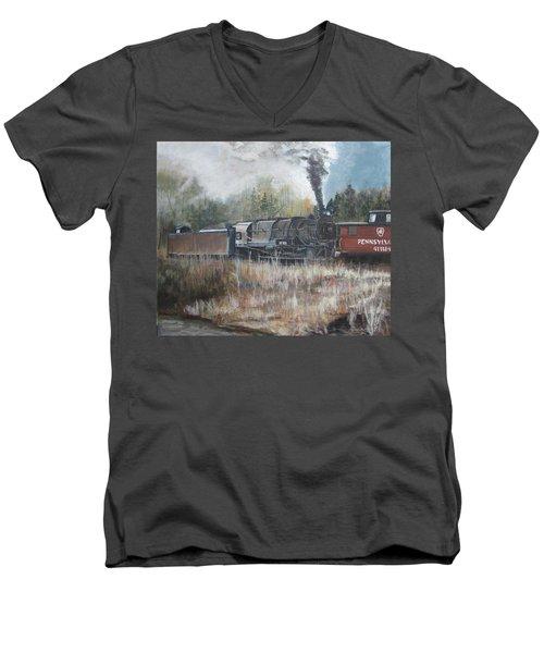 Letting Off Steam Men's V-Neck T-Shirt