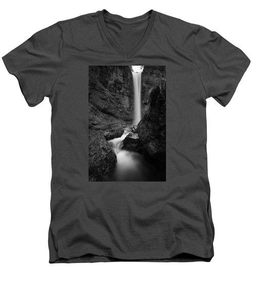 Leuenfall In Black And White Men's V-Neck T-Shirt
