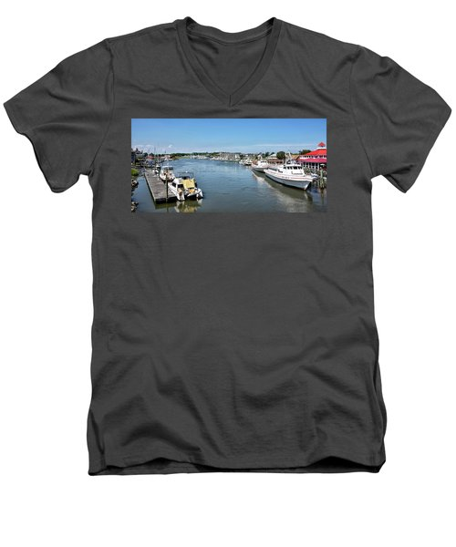 Men's V-Neck T-Shirt featuring the photograph Lewes Delaware by Brendan Reals