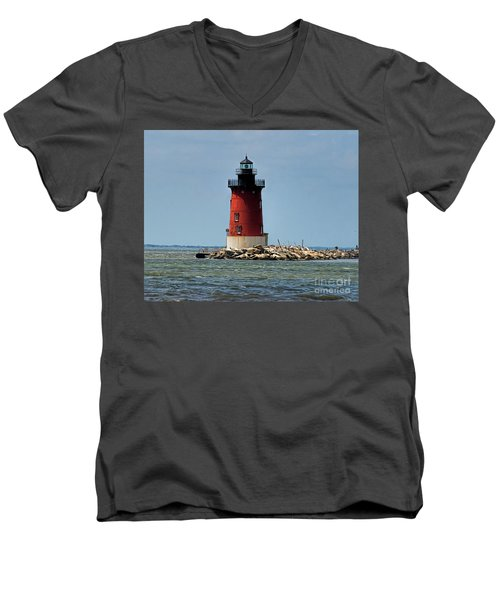 Lewes Lighthouse Men's V-Neck T-Shirt