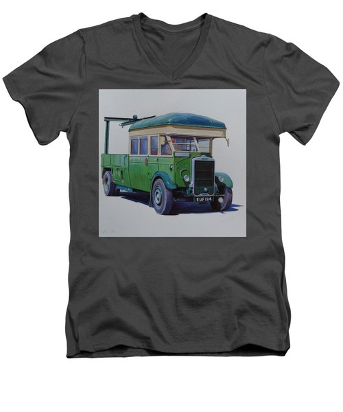 Leyland Southdown Wrecker. Men's V-Neck T-Shirt by Mike Jeffries