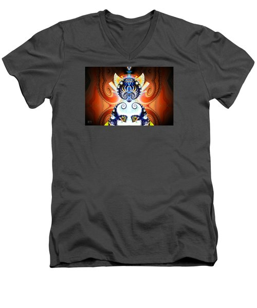 Li Shou - Ancient Chinese Cat Goddess Men's V-Neck T-Shirt