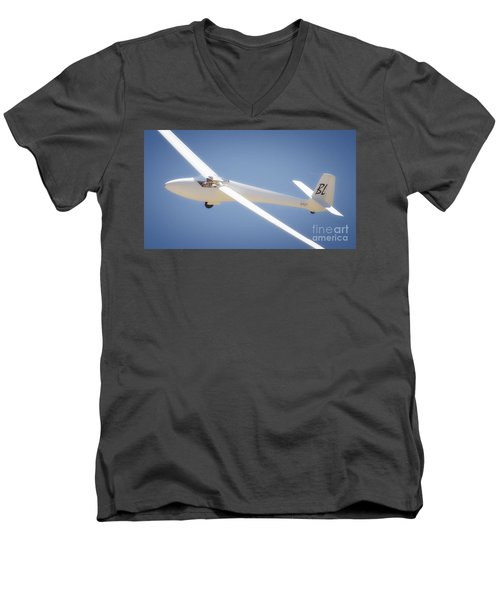 Libelle Sailplane Soaring Men's V-Neck T-Shirt