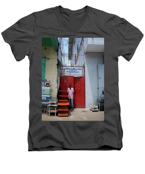 Liberian Lawyer Men's V-Neck T-Shirt