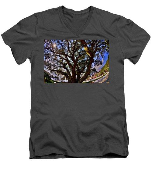 Liberty Oak Harbour Town Hilton Head Sc Men's V-Neck T-Shirt