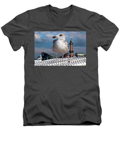 Liberty Of An Pacific Gull Men's V-Neck T-Shirt