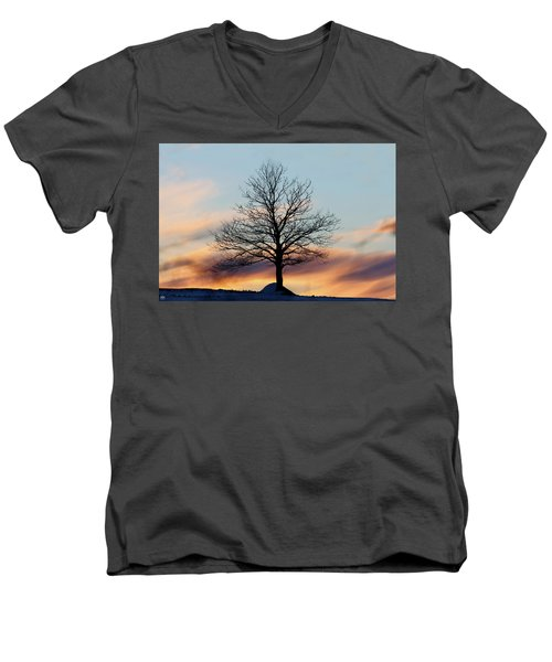 Liberty Tree Sunset Men's V-Neck T-Shirt