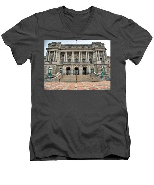 Library Of Congress Men's V-Neck T-Shirt