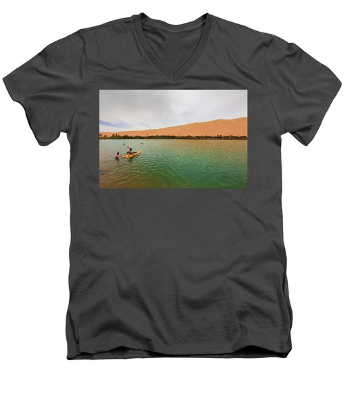 Libyan Oasis Men's V-Neck T-Shirt