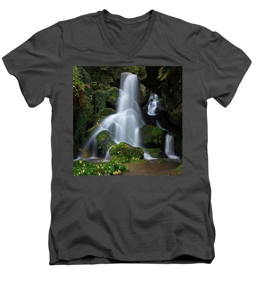 Lichtenhain Waterfall Men's V-Neck T-Shirt