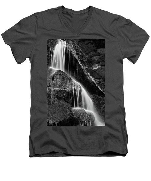 Lichtenhain Waterfall - Bw Version Men's V-Neck T-Shirt