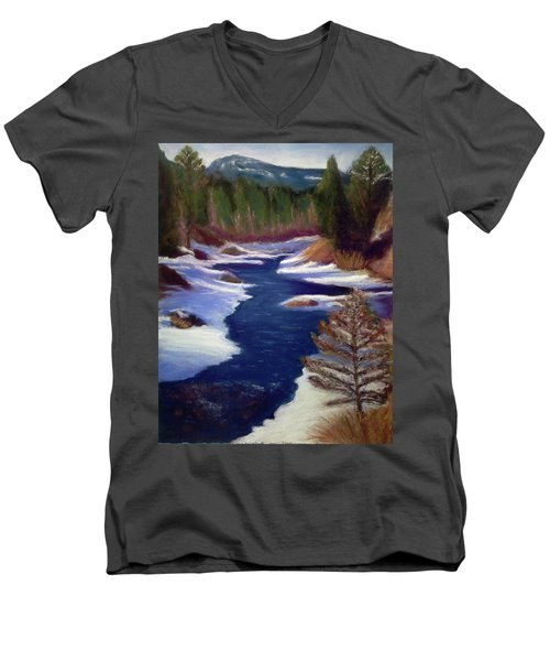 Licia's Painting Gratitude Men's V-Neck T-Shirt