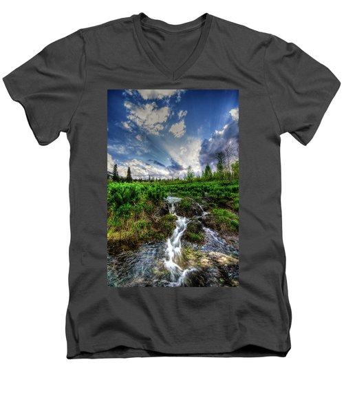 Life Giving Stream Men's V-Neck T-Shirt